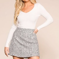 Your Best Life Grey Skirt