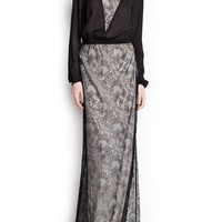 COMBI LACE GOWN