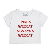 Once a Wilcat Always a Wildcat 14-Female Snow T-Shirt
