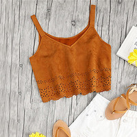 CAMEL CROP TOP