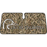Ducks Unlimited Camo Single Windshield Shade - Mossy Oak Shadow Grassblades