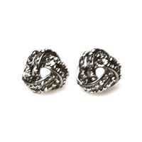 Rhinestone Knotted Earrings