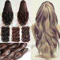 """Big Discount Sale,Lady Real Natural 24"""" 27"""" Long Curly Clip In Hair Extension Brown Black Blonde Good Quality Cheap Price Retail"""