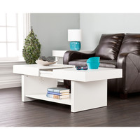 Holly & Martin Glidick White Slide-Top Cocktail/ Coffee Table | Overstock.com Shopping - The Best Deals on Coffee, Sofa & End Tables