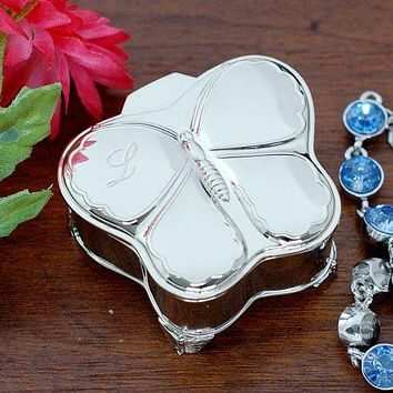 Engraved Butterfly Jewelry Box