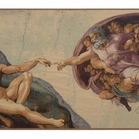 The Creation by Michelangelo Tapestry Wall Hanging