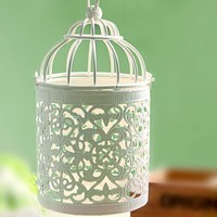 Creative Vintage Hollow Out Iron Candle Stand Decoration Home Decor [6281862982]