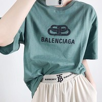 Balenciaga New fashion letter print couple top t-shirt