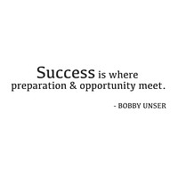 """wall quotes wall decals - """"Success Is Where Preparation And Opportunity Meet"""""""