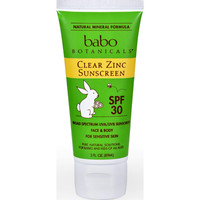 Babo Botanicals Sunscreen - Clear Zinc - Spf 30 - 3 Fl Oz