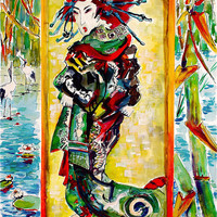 The Courtesan After Van Gogh After Eisen Print by Ginette Callaway