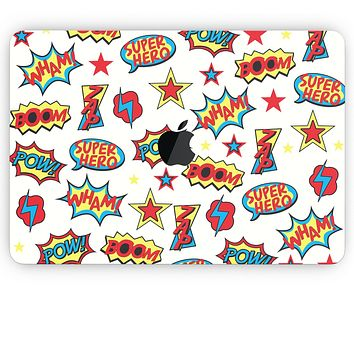 Comic Series / Comic Book Actions V1 - Apple MacBook Pro, Pro with Touch Bar or Air Skin Decal Kit (All Versions Available)