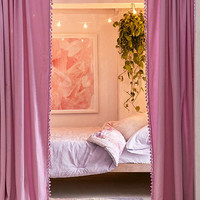 Palma Fringe Light Blocking Window Curtain | Urban Outfitters