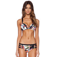 New Fashion Women Print Sexy Push up Patchwork Bikini Set Retro Brazilian Swimsuit Swimwear Beach Bathing Suit Size S,M,L