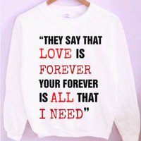 Sleeping With Sirens Lyrics Crewneck/Sweatshirt