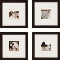 """Paragon Waterfront by Mitchell Waterfront Art (Set of 4) - 17"""" x 17"""" - 1612 - All Wall Art - Wall Art & Coverings - Decor"""