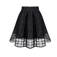 Cross Hatched Tulle Skirt