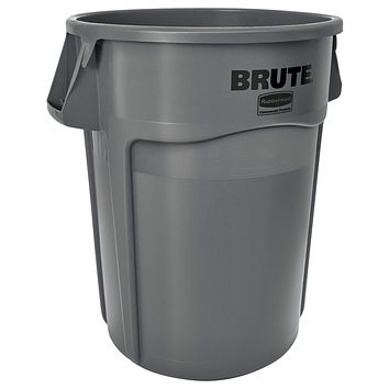 Rubbermaid Commercial Products FG264360GRAY BRUTE Heavy-Duty Trash/Garbage Can, (Pack of 4) Gray 44 Gallon Multipack