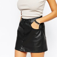 Boohoo Faux Leather Skirt