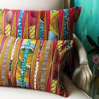 DayDreamer Patchwork OOAK Set of TWO Pillow covers by SISTERBATIK