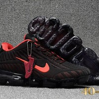 KUYOU N360 Nike Air Vapormax 2018 Flyknit Sports Casual Mid Running Shoes Black Red