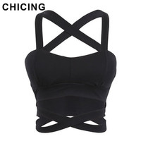 CHICING Summer Sexy Bustier Crop Tops Women