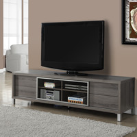 """Tv Stand - 70""""L - Dark Taupe Euro Style"""