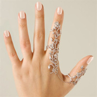 Women Fashion Jewelry Multiple Finger Stack Knuckle Band Crystal Rings Set = 5616997249