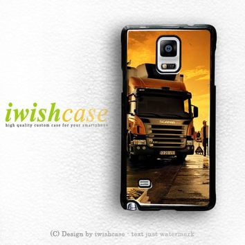 Afternoon Scania Logo Blue Samsung Galaxy Note 3 Case Note 4 Case