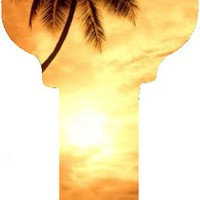180 KW1 Hawaii Sunset House Key [KW1 HAWAII SUNSET] - $0.65 : Key Craze, Wholesale Key Blanks and Accessories