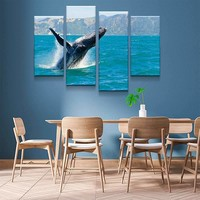 Jumping Whale Canvas Set