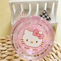 2017 Hello Kitty Smoking Grils Oil Ring Cigar Ashtray Glass Car Ashtray Dish Oil Rig/Dish/Dabber From Cahstore, $4.4 | Dhgate.Com
