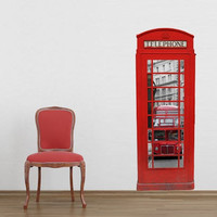 London phone both wall decal for housewares
