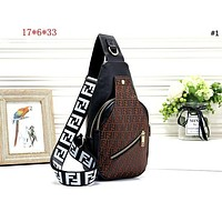 Fendi 2019 new men and women models embossed letters wild chest bag pockets shoulder bag #1