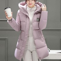 2017 Women Solid Fashion Korean Silm Coats Ladies Autumn Winter Warm Casual Thicker Solid Hoodie Down Lammy Jacket Coat Overcoat