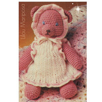 Crochet TOY Pattern Vintage 70s Baby Girl Teddy Bear Toy-Mobile-Stuffed Toy-Animal Zoo-Toddlers Chidren-Vintage Plush Toy- Baby Toy-Vtg-DIY