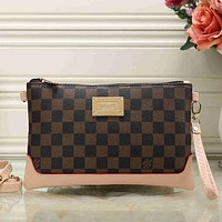 Louis Vuitton Women Fashion Leather Clutch Bag