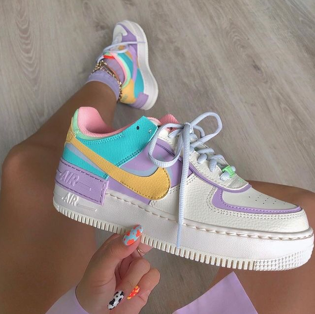 """Image of Nike WMNS Air Force 1 Shadow""""Tropical Twist""""Low Band Slippers"""