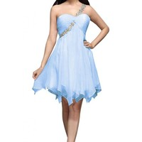 Emma Y New One-shoulder Short Cocktail Dresses Homecoming Gowns- 2GAES788