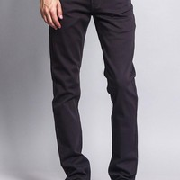 Men's Skinny Fit Colored Jeans (Charcoal)