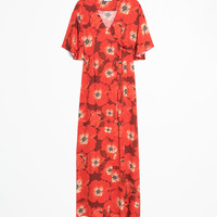 Poppy Print Wrap Dress - Red - Maxi dresses - & Other Stories GB