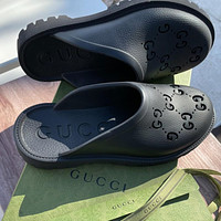GUCCI GG Womens Double G Hollow Slippers Shoes Heel height 3 CM