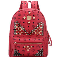Red Stud Detail Backpack