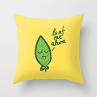 The introvert leaf Throw Pillow by Budi Satria Kwan | Society6