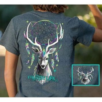 Country Life Preppy Feather Deer Dream T-Shirt