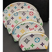 LV Louis Vuitton Tide brand classic old flower shell bag cosmetic bag four-piece