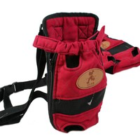 Fashion Pet Carrier Dog Backpack Chest Bag Durable Canvas Outdoor Puppy Cat Travel Bag S M L
