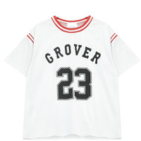 """GROVER 23"" Stripe Spliced T-Shirt"