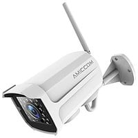 Outdoor Security Camera, 1080P WiFi Camera Wireless Surveillance Cameras, IP Camera with Two-Way Audio, IP66 Waterproof, Night Vision, Motion Detection, Activity Alert, Deterrent Alarm - iOS, Android