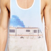 ASOS Tank With Breaking Bad Print And Extreme Racer Back